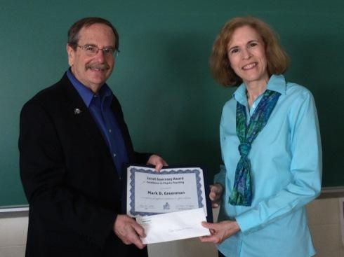 Greenman_Janet Guernsey Award 2016